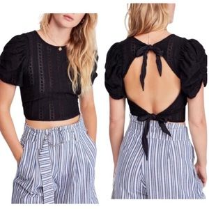 Free People Star Struck Tie Back Blouse Size Small
